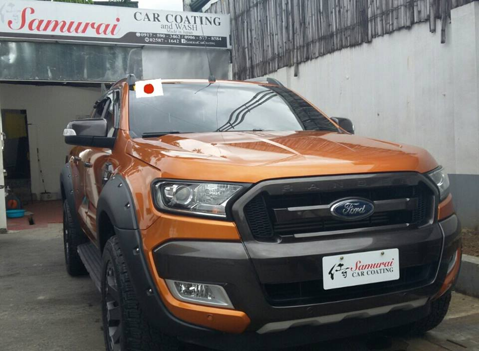 Glass Carcoating-ford Ranger 2016 Pride Orange Samurai Carcoating Made In Japan