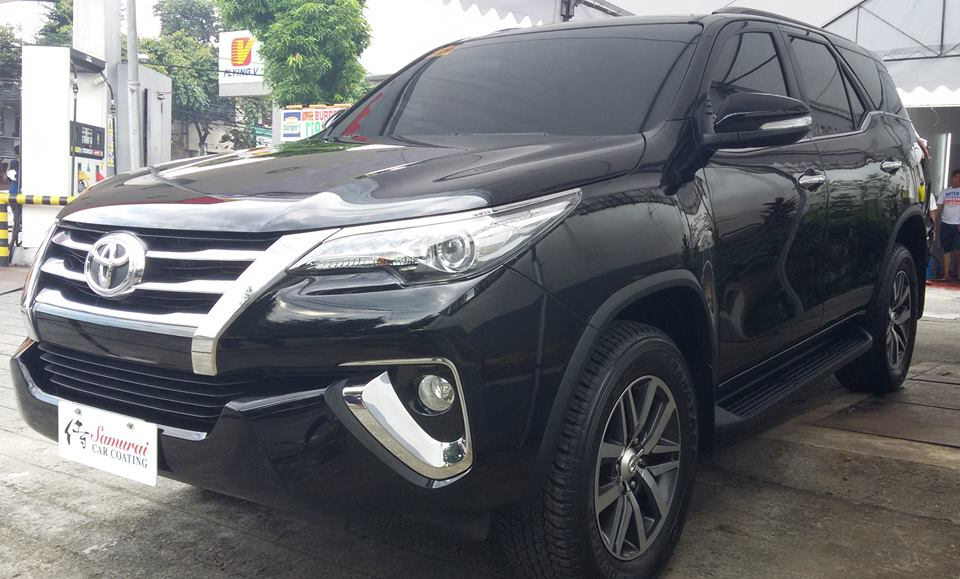 Glass Carcoating-toyota Fortuner 2016 Black Samurai Carcoating Made In Japan