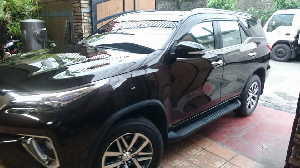 Glass Carcoating-toyota Fortuner 2016 Phantom Brown