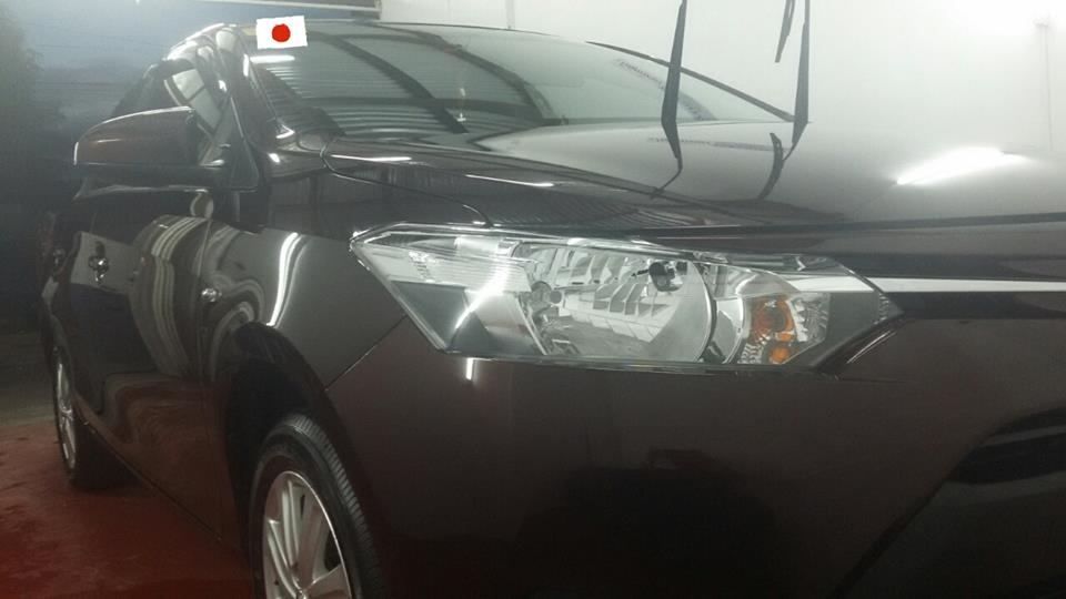 Glass Carcoating-toyota Vios 2016 Blackish Red Mica