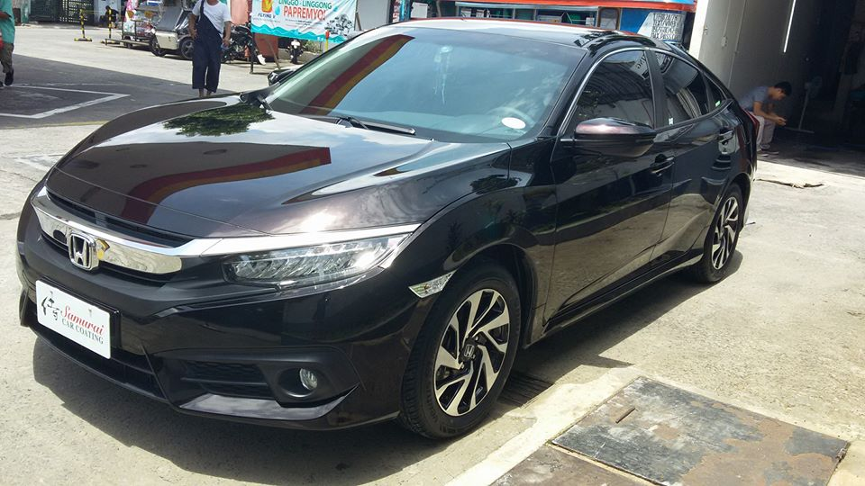 Glass Carcoating-honda Civic 2016 Black Burgundy Samurai Carcoating Made In Japan