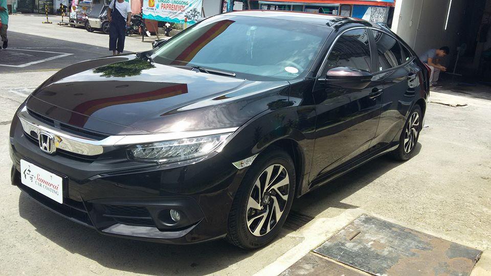 Gl Carcoating Honda Civic 2016 Black Burgundy