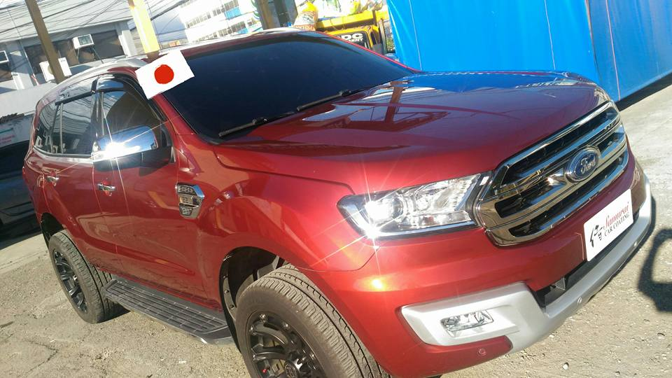 Glass Carcoatingford Everest 2016 Sunset Red Samurai Carcoating