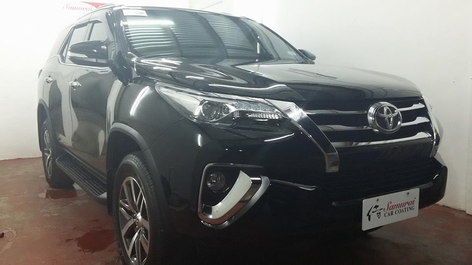 Glass Carcoating-toyota Fortuner 2016 Black Samurai