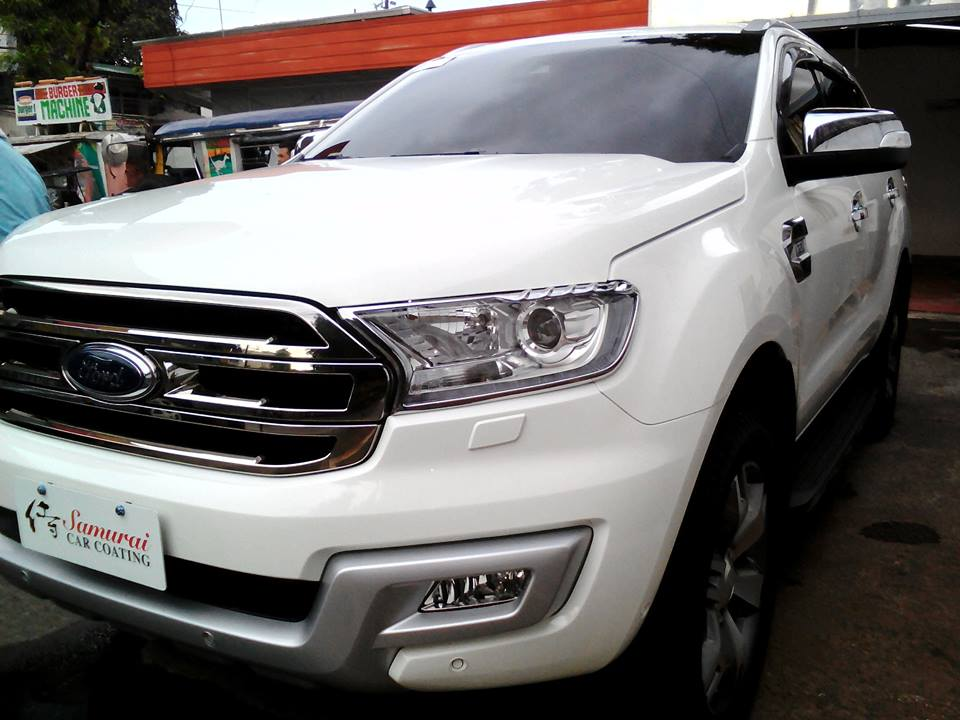 Ford Everest Cool White >> Ford Everest 2016 Cool White Samurai Carcoating Made In Japan