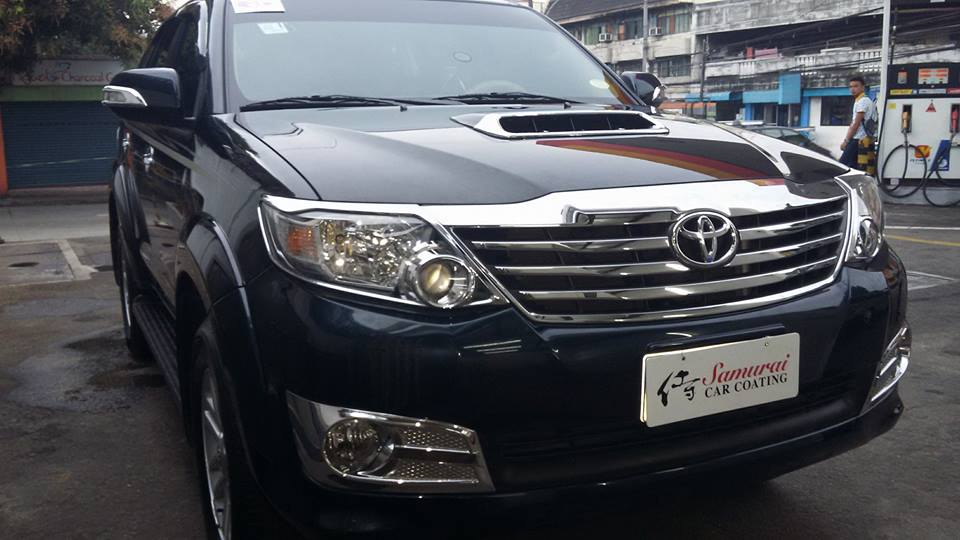 Glass Carcoating-toyota Fortuner 2014 Steel Mica Samurai