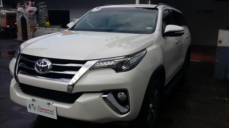 Glass Carcoating-toyota Fortuner 2016 Pearl White