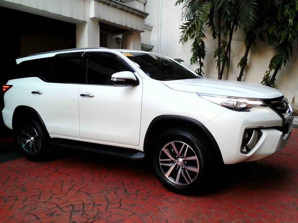 Glass Carcoating-toyota Fortuner 2016 Pearl White Samurai Carcoating Made In Japan