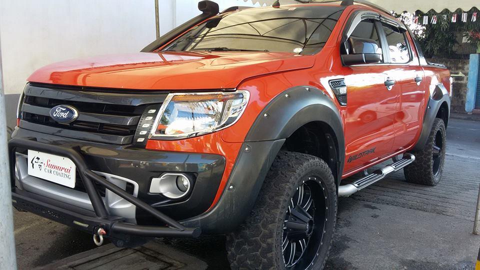 Glass Carcoating-ford Ranger 2014 Orange Samurai