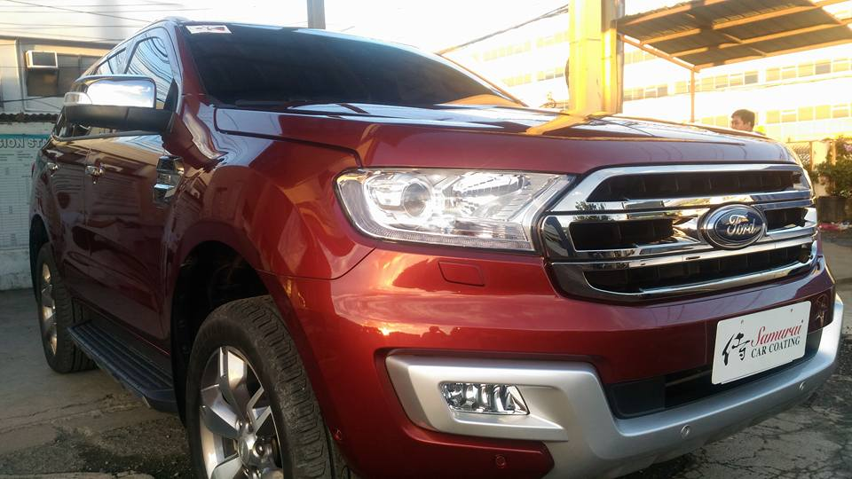 Glass Carcoatingford Everest 2017 Sunset Red Samurai Carcoating
