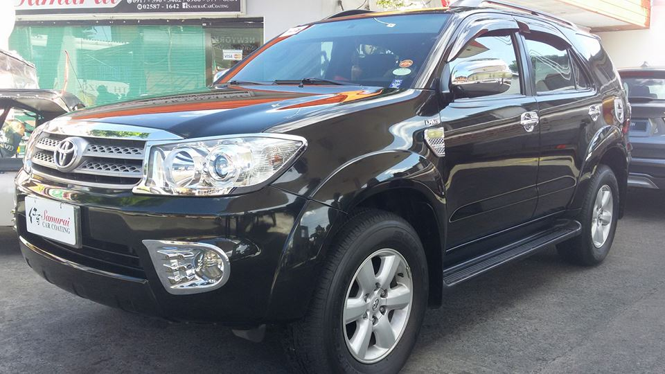 Glass Carcoating-toyota Fortuner 2011 Black Samurai