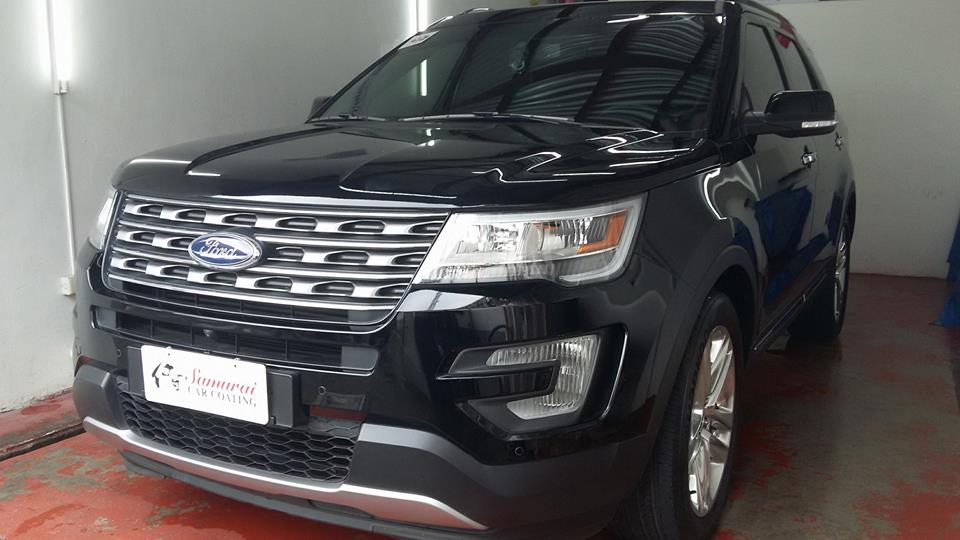 Follow Up Check Up After  Month For Ford Everest  Black Car Coated Last December