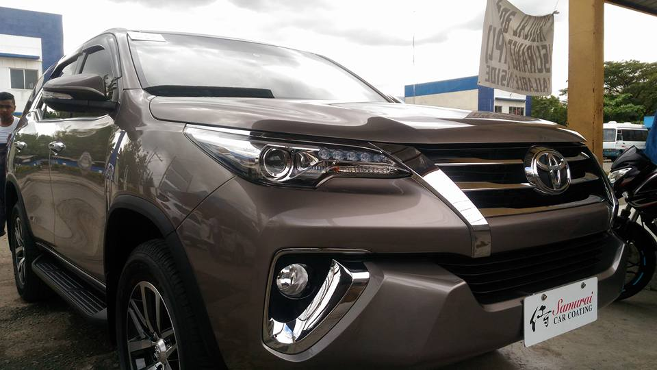 Glass Carcoating-TOYOTA FORTUNER 2016 AVANT GARDE BRONZE ...