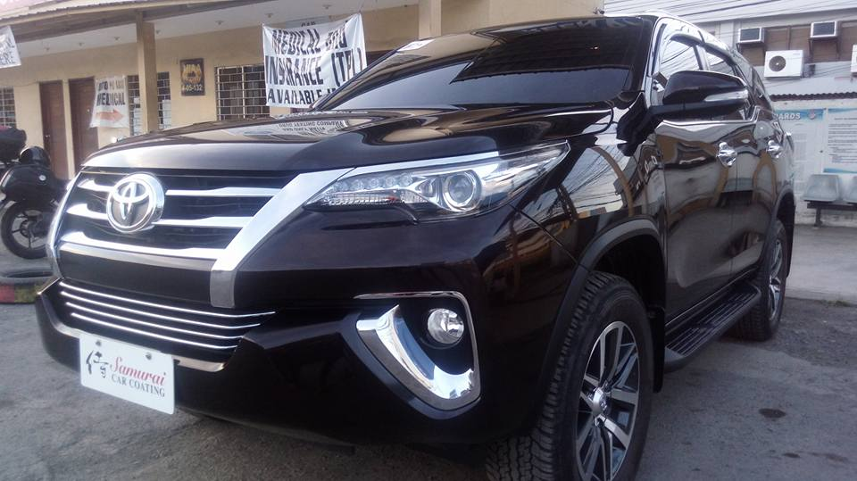 Glass Carcoating- Toyota Fortuner 2017 Phantom Brown Samurai Carcoating Made In Japan